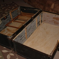Make 10: Lined an old steamer trunk.