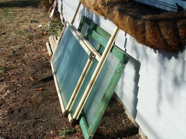 Make for today: frames for curb harvested shower doors.