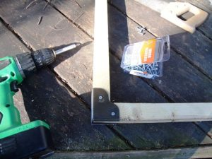 Make for today: frames for curb harvested shower doors.