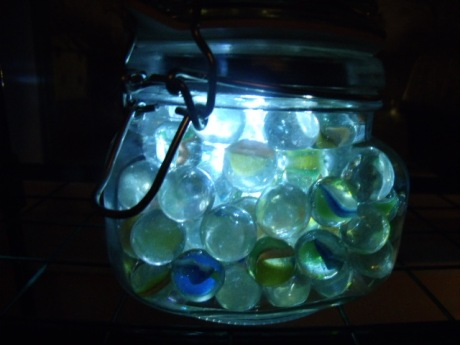 Solar Marble Jar Night Light